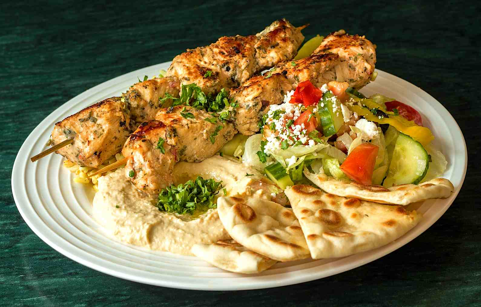 Chicken Kabob Platter - $10.99